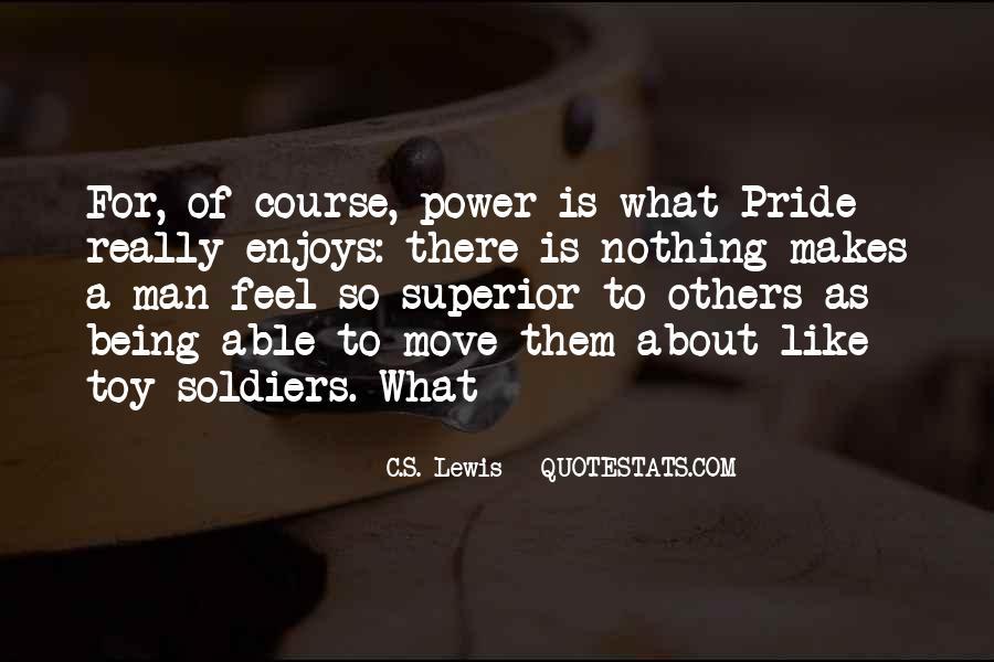 Man Superior Quotes #47125