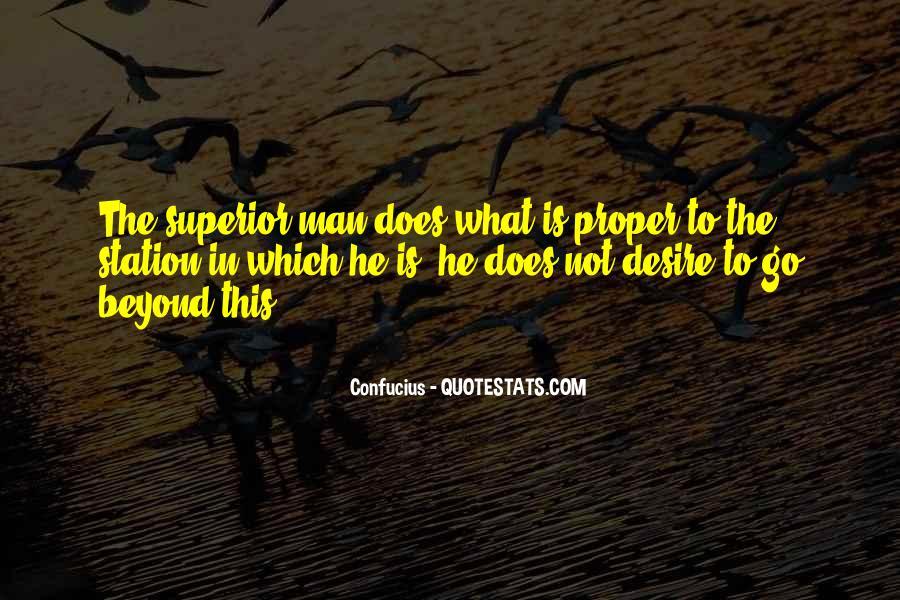 Man Superior Quotes #88768
