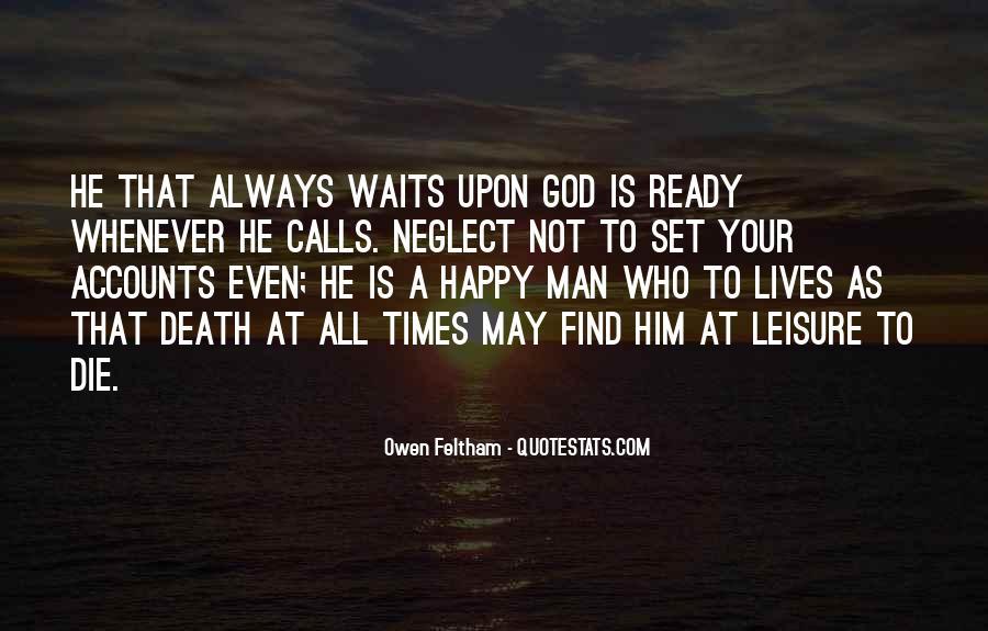Man Who Waits Quotes #1430212