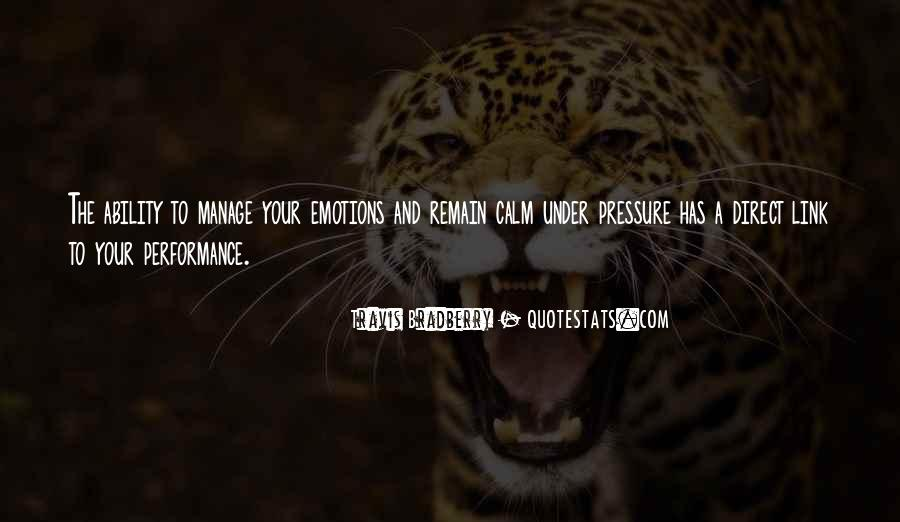 Manage Emotions Quotes #1302419