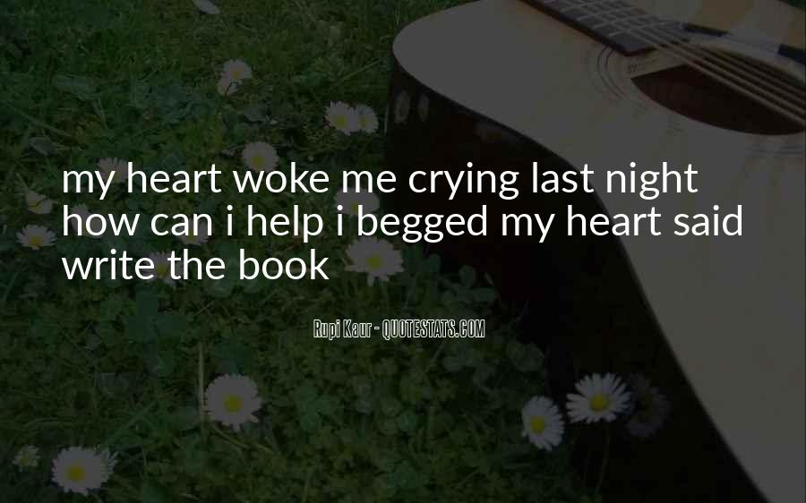Quotes About Crying Heart #1095250
