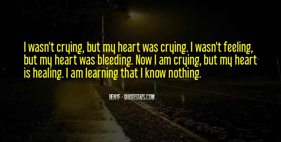 Quotes About Crying Heart #454927
