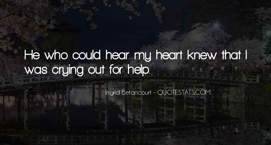 Quotes About Crying Heart #826968