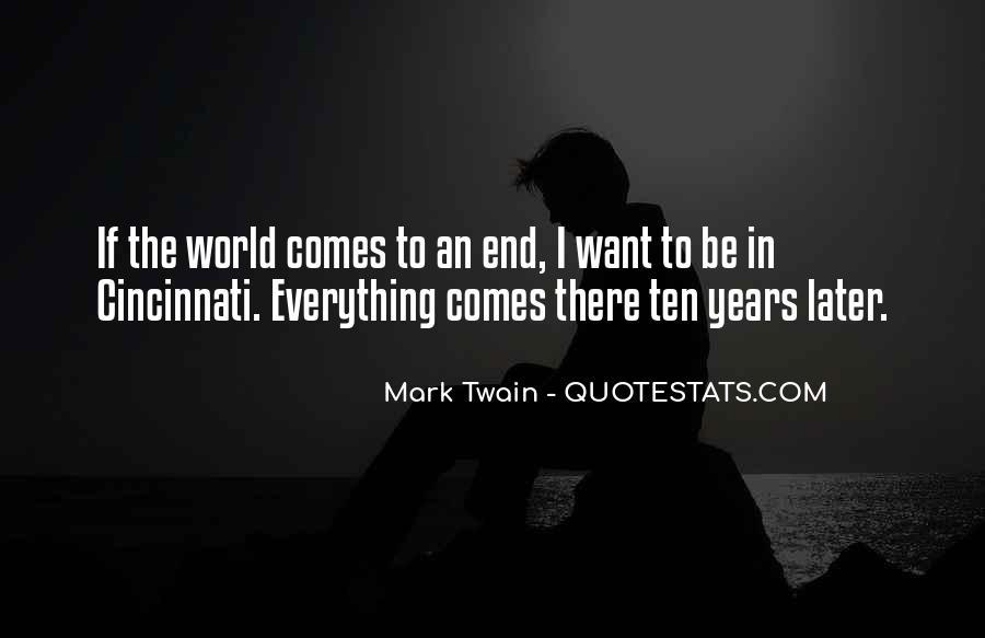 Mark Twain Cincinnati Quotes #1004633