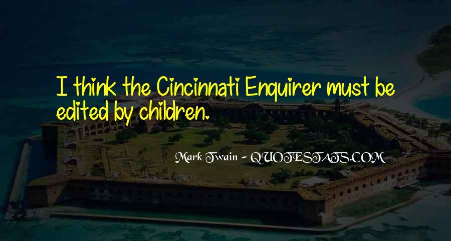 Mark Twain Cincinnati Quotes #1605174