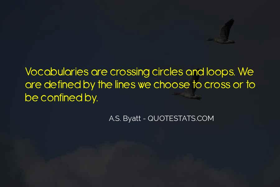Quotes About Crossing Lines #43442