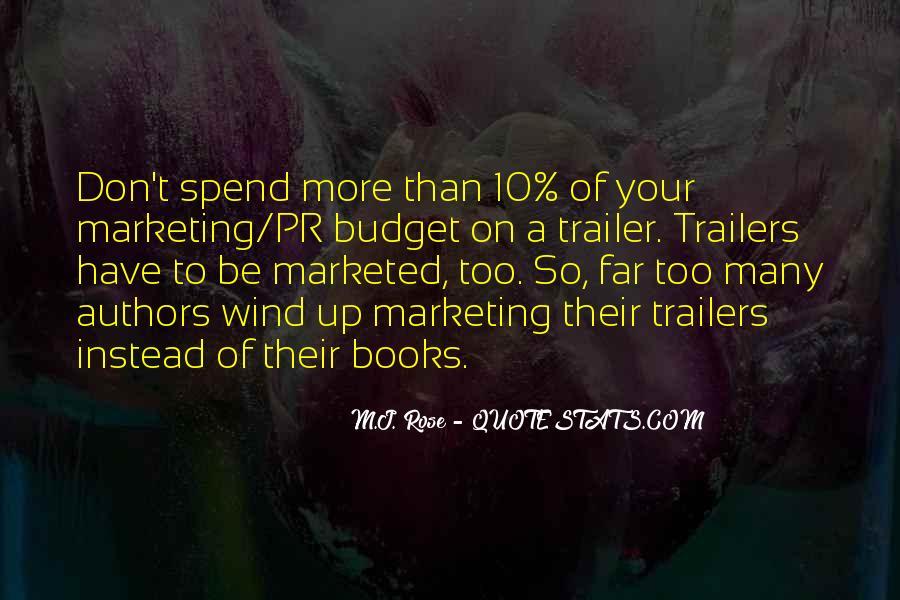 Marketing Spend Quotes #161337