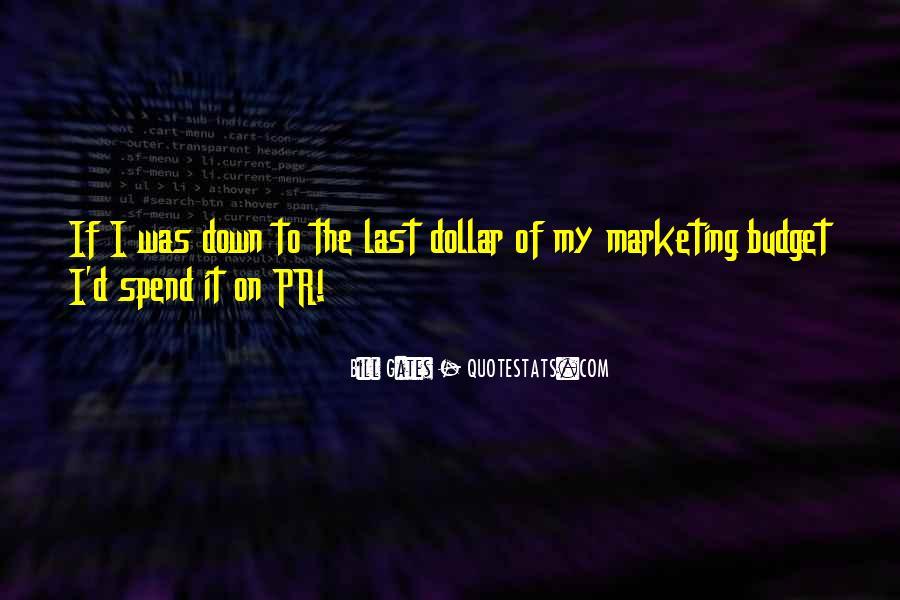 Marketing Spend Quotes #1752151