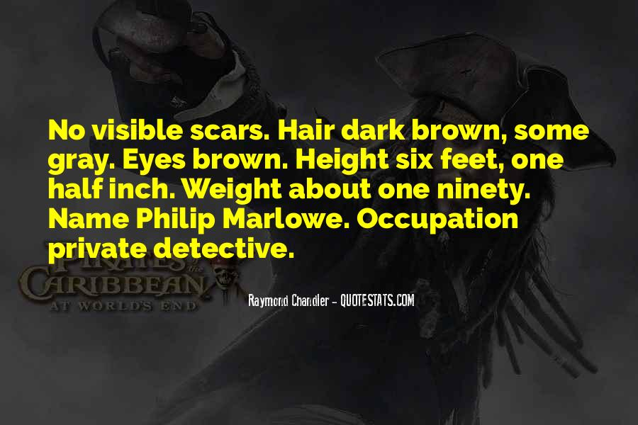 Marlowe Detective Quotes #935738