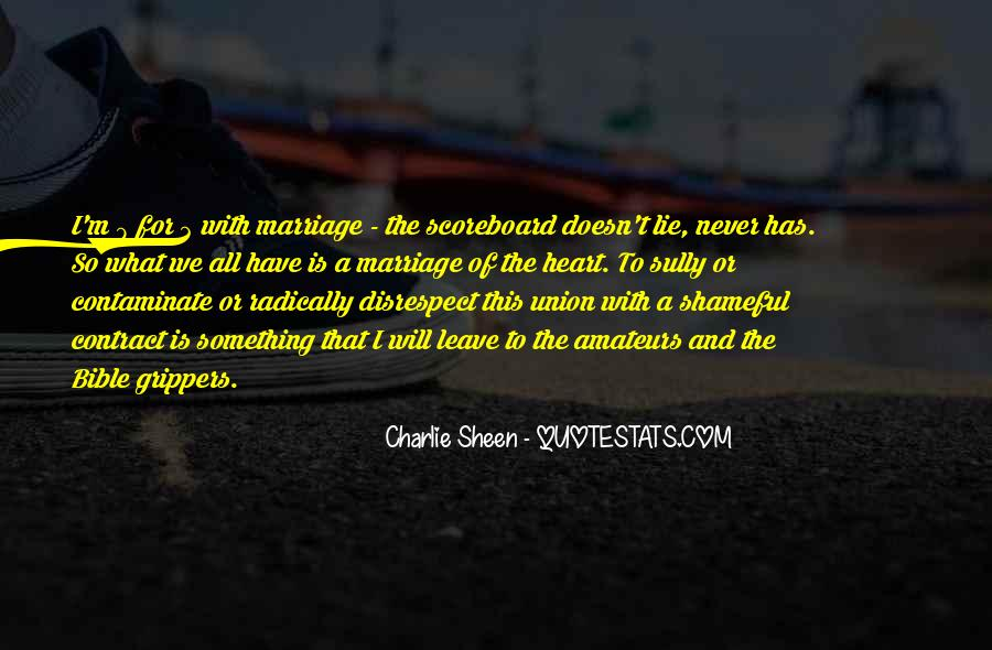 Marriage Disrespect Quotes #820700