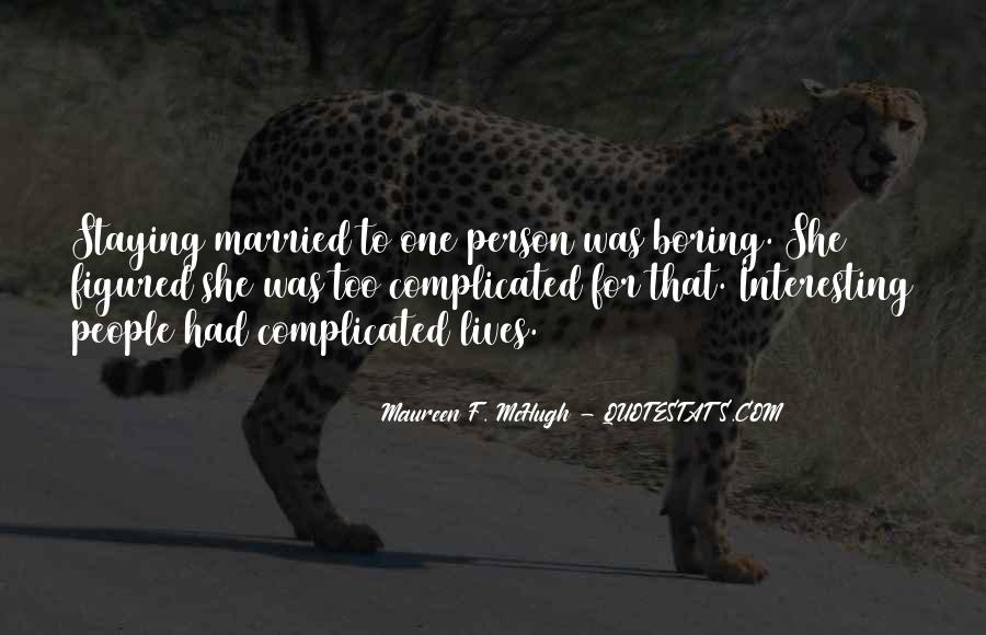 Marriage Is Complicated Quotes #543046