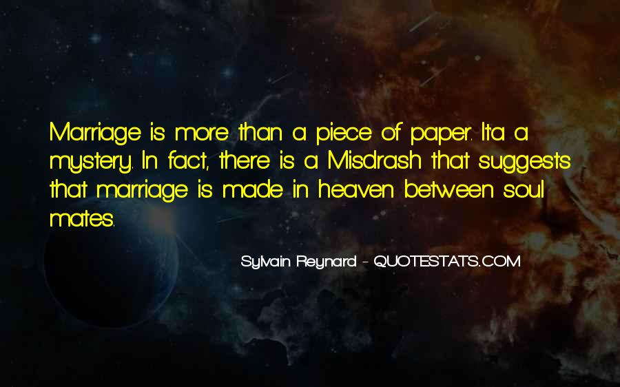 Marriage Is More Than A Piece Of Paper Quotes #441784