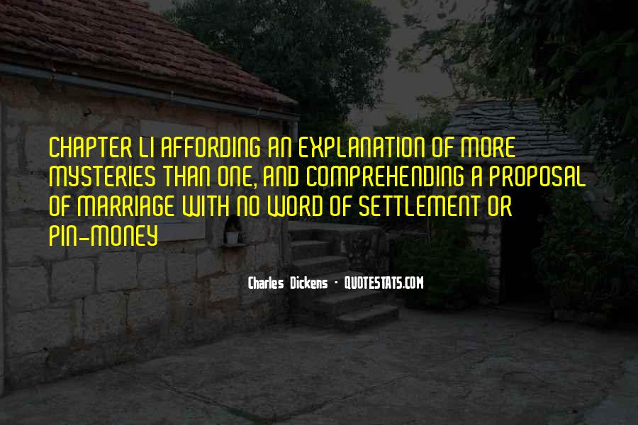 Marriage Settlement Quotes #777696