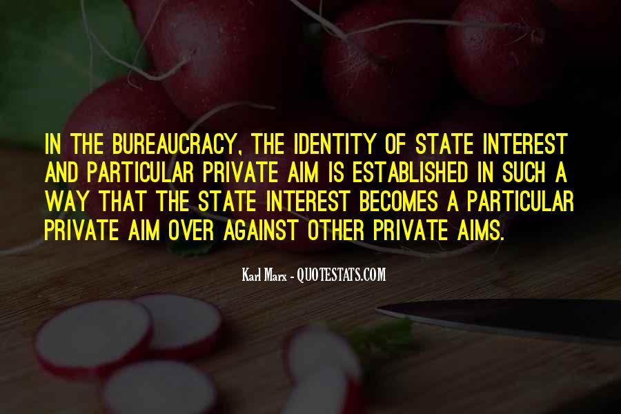Marx Bureaucracy Quotes #376042