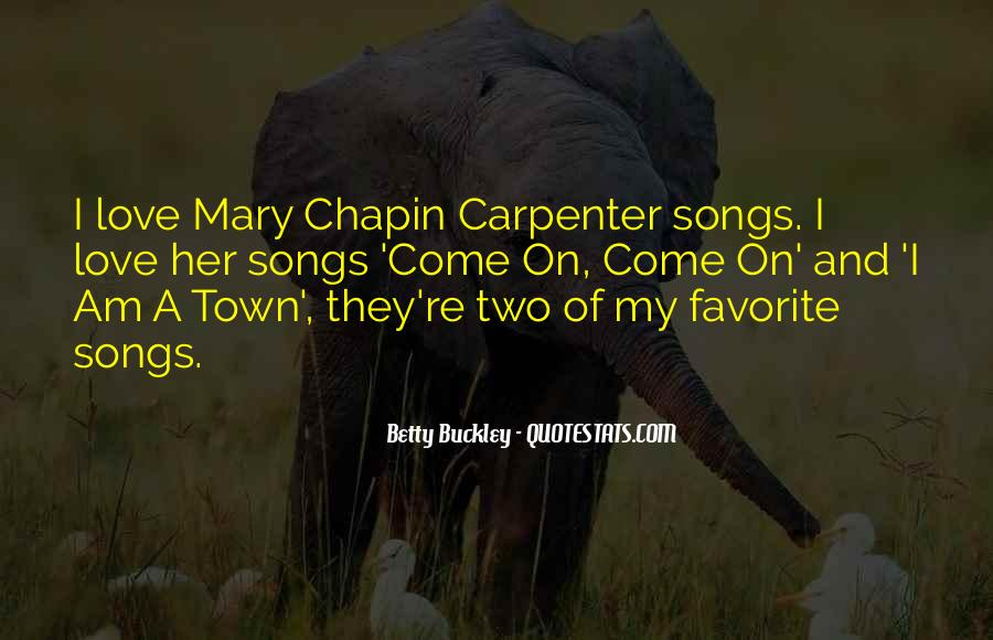 Mary Buckley Quotes #1004743