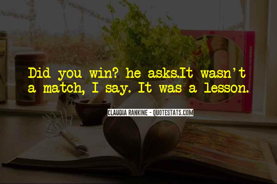Match Win Quotes #853722