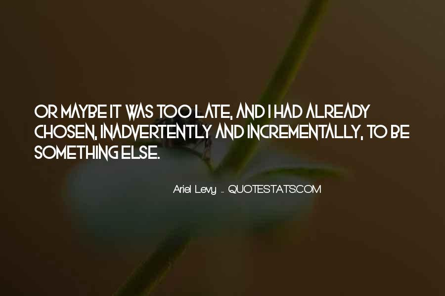 Maybe It's Too Late Quotes #1791685