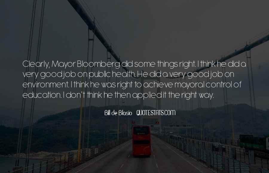 Mayor Bloomberg Quotes #828951