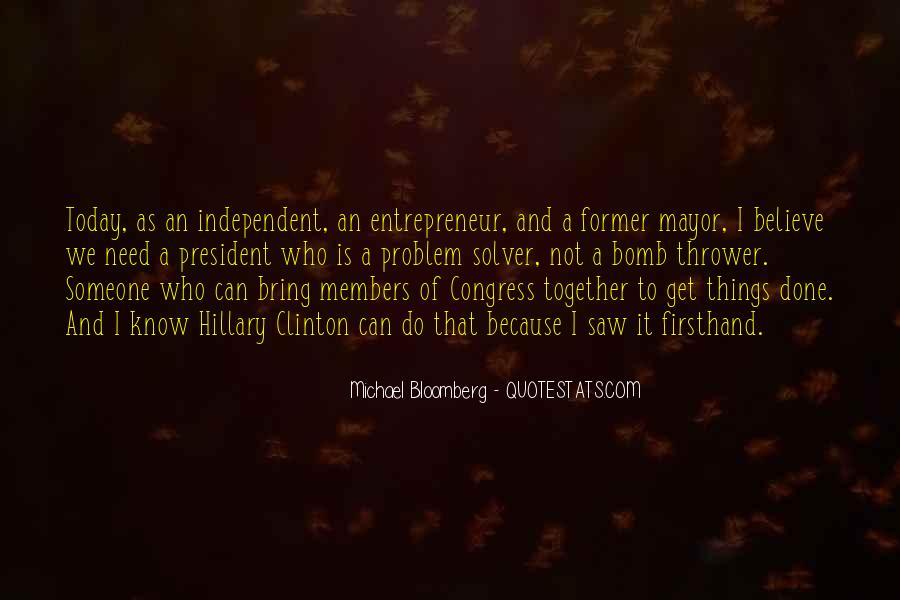 Mayor Bloomberg Quotes #869558