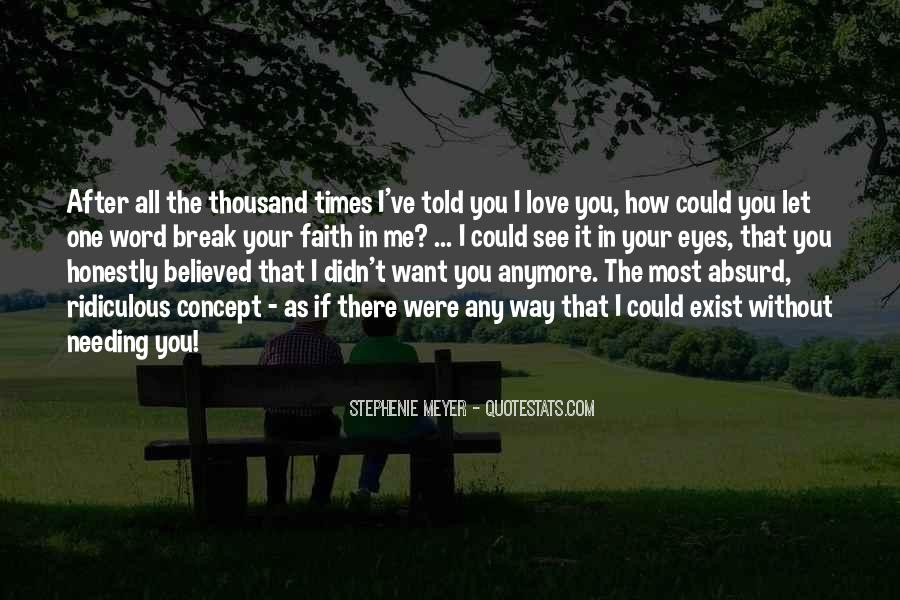 Me Without You Love Quotes #446085
