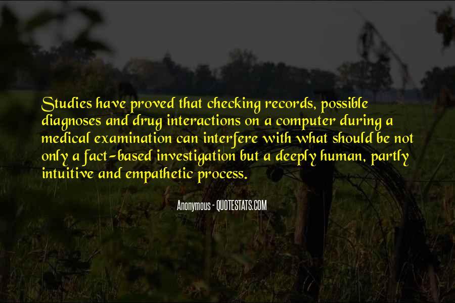 Medical Investigation Quotes #1497412
