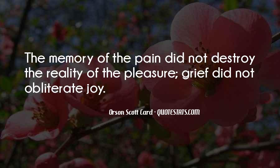 Memories And Pain Quotes #587330