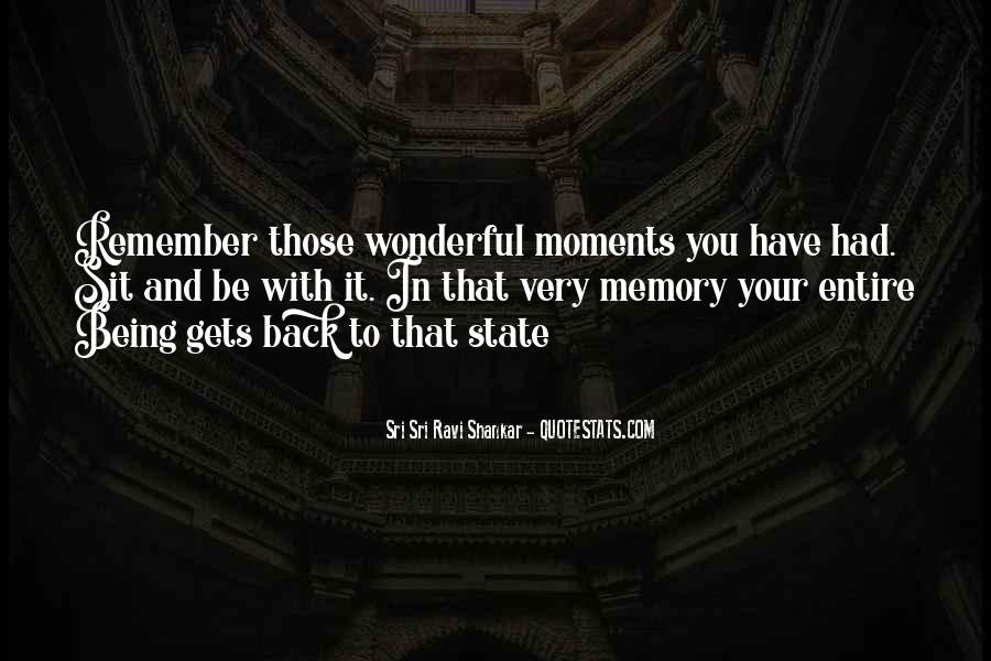 Memory Moments Quotes #1612651