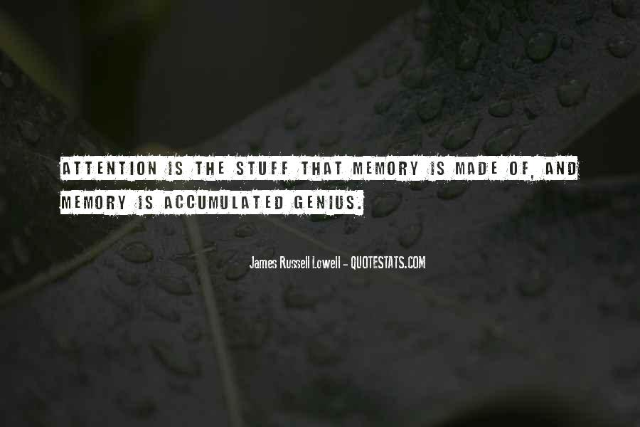 Memory Of Quotes #16478