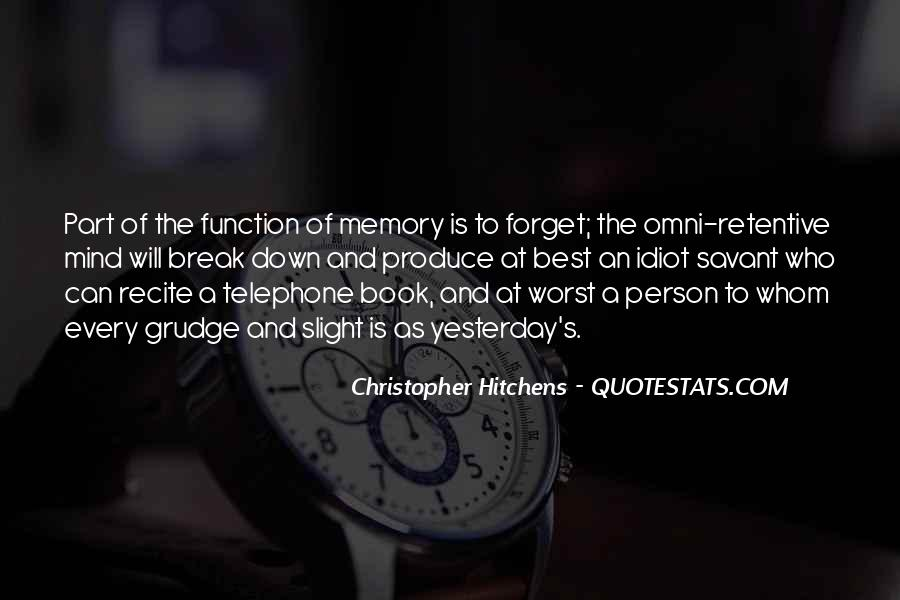 Memory Of Quotes #22688