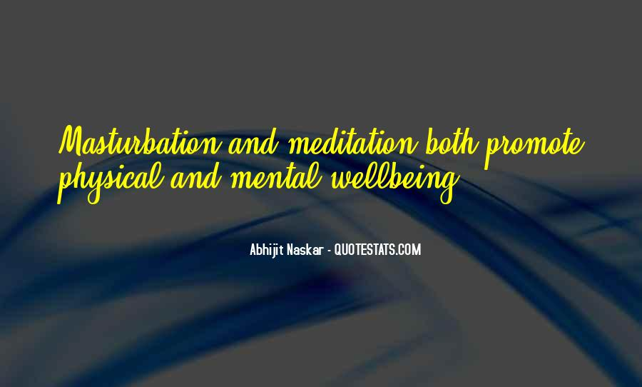 Mental Health And Wellbeing Quotes #647388