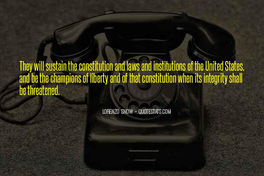 Quotes About Constitution Of The United States #290258