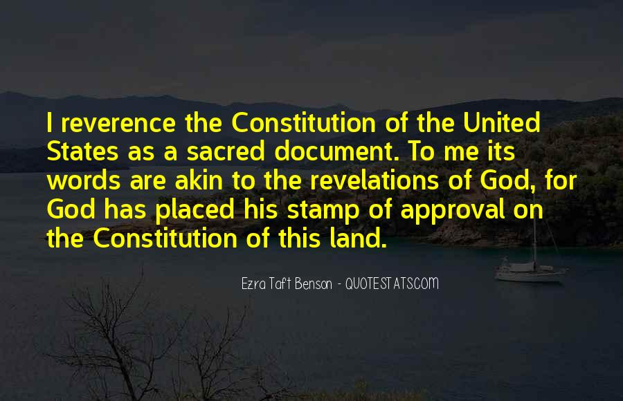 Quotes About Constitution Of The United States #909528