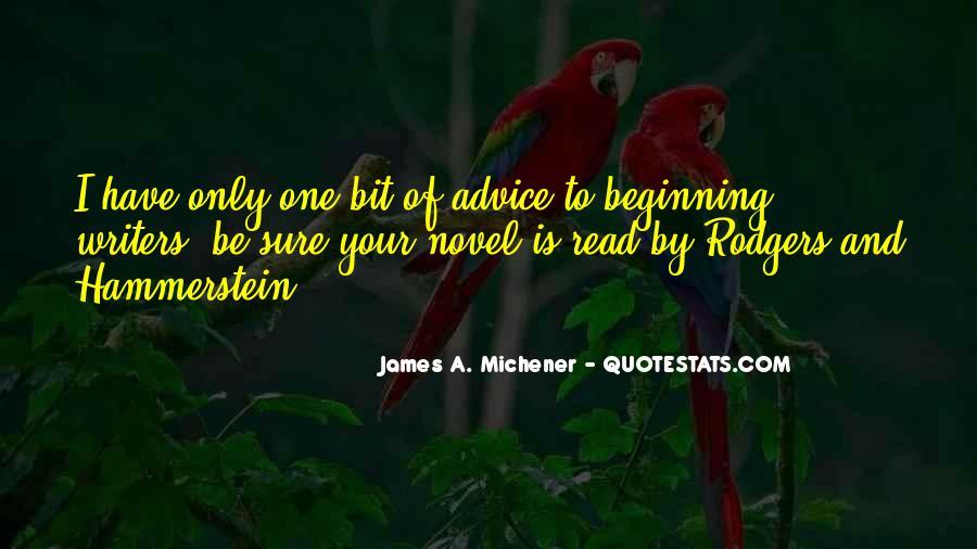 Michener Quotes #1139159