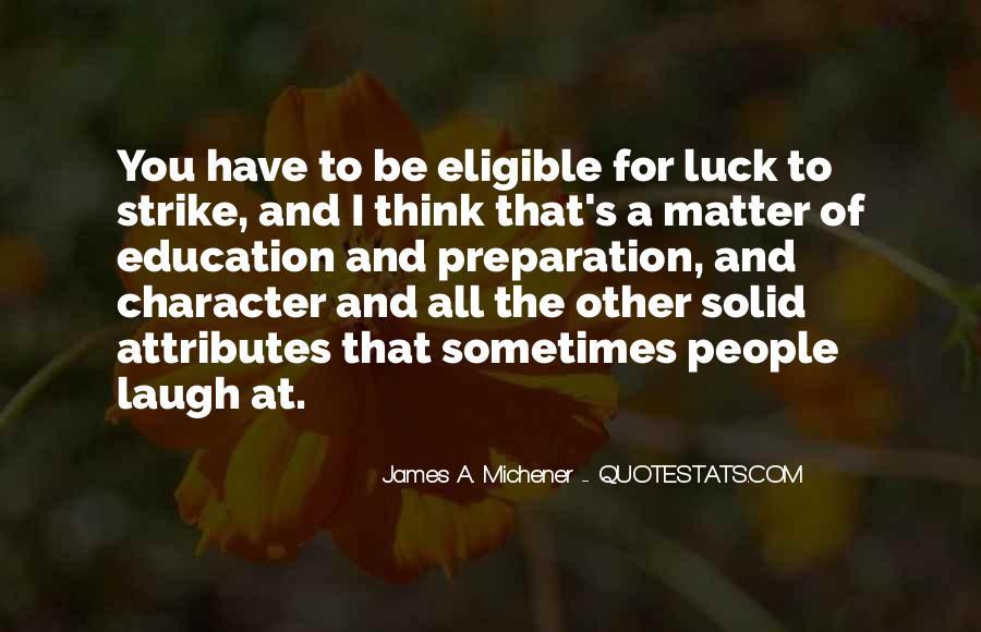 Michener Quotes #1166008