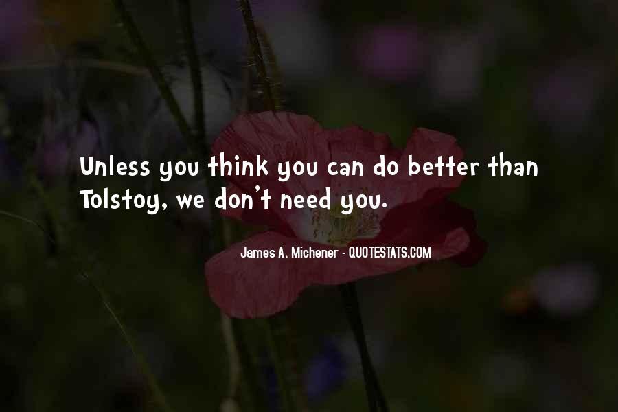Michener Quotes #2696