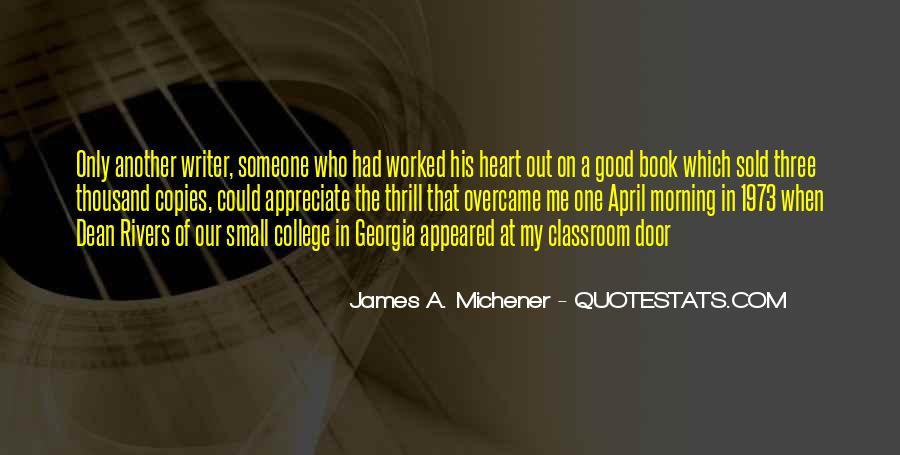 Michener Quotes #614265