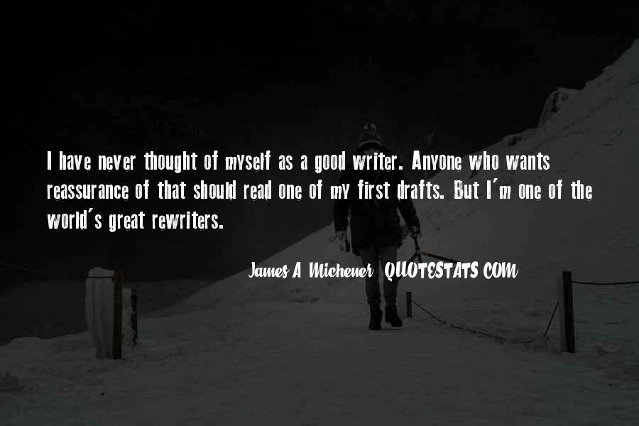 Michener Quotes #619908