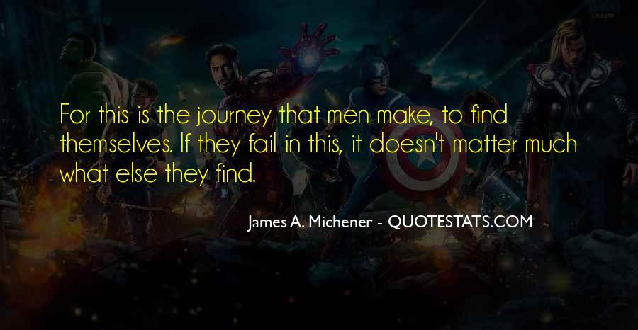 Michener Quotes #670695