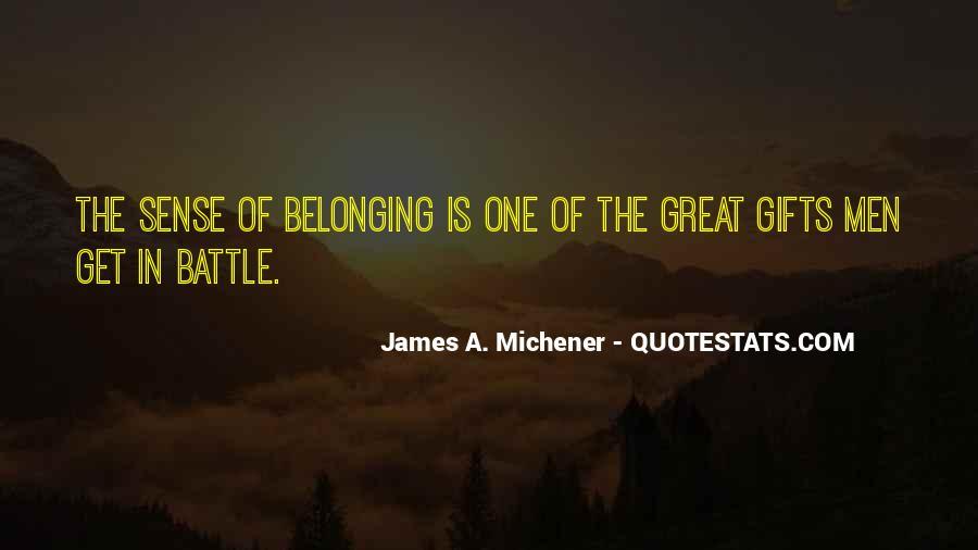 Michener Quotes #720359