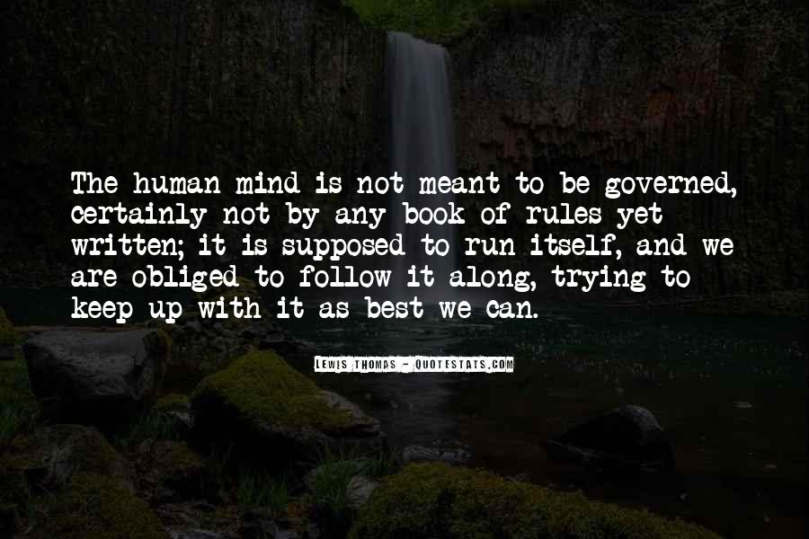 Mind Is Running Quotes #1400693