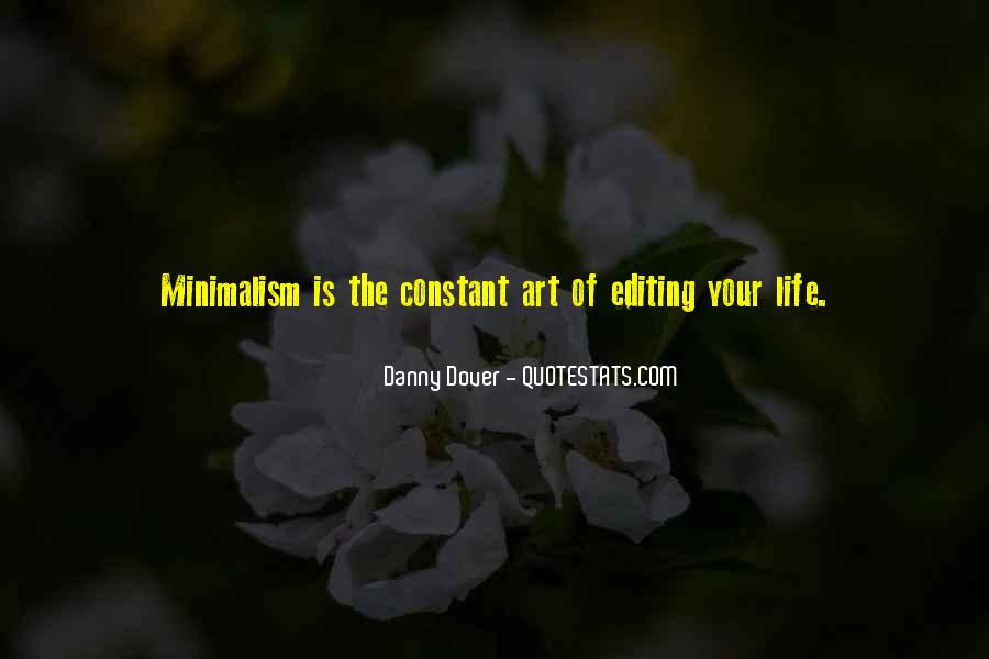 Minimalist Living Quotes #1720246