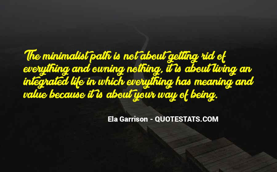 Minimalist Living Quotes #22348