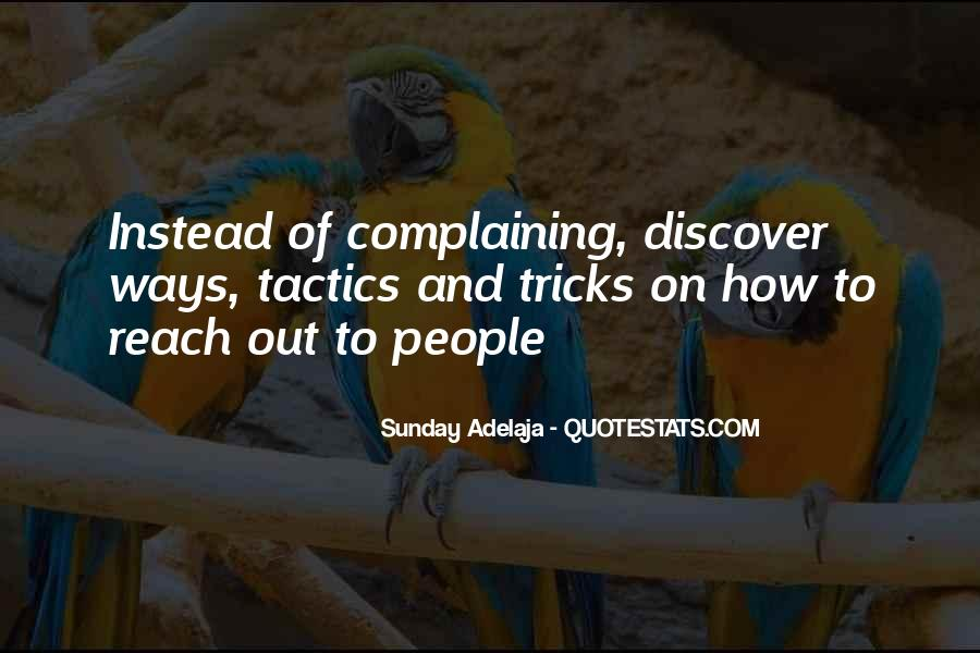 Quotes About Complaining People #1023250