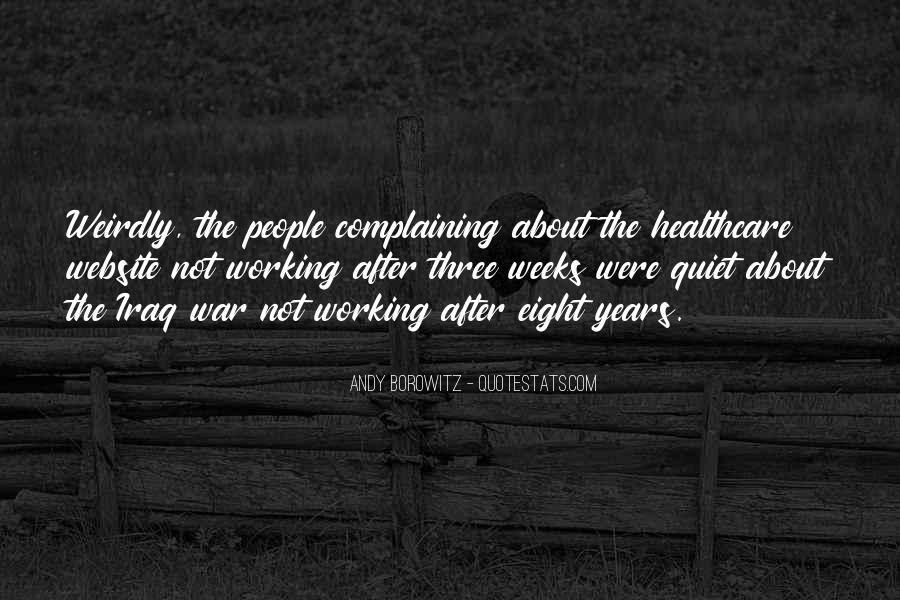 Quotes About Complaining People #1139108