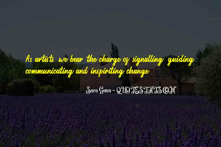 Quotes About Communicating Change #1686734