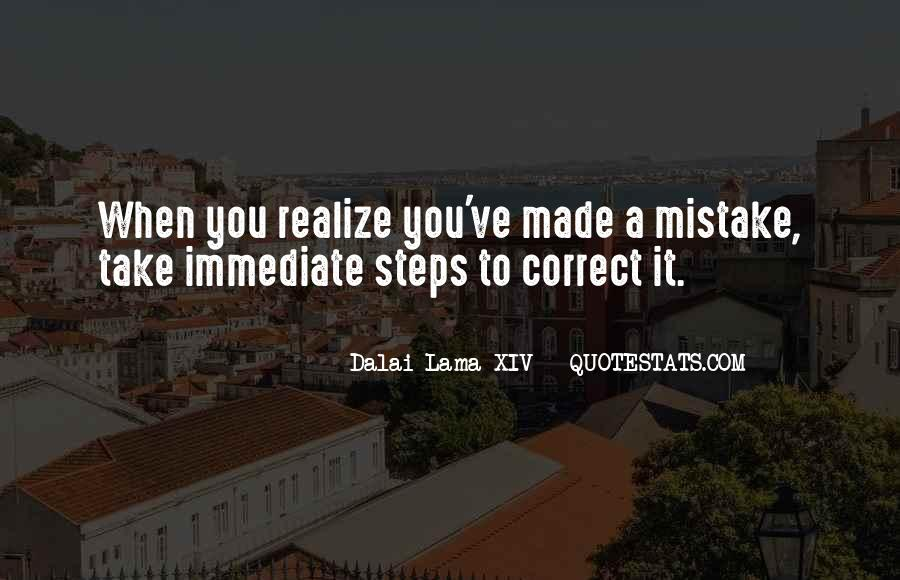 Mistake Realize Quotes #1230859