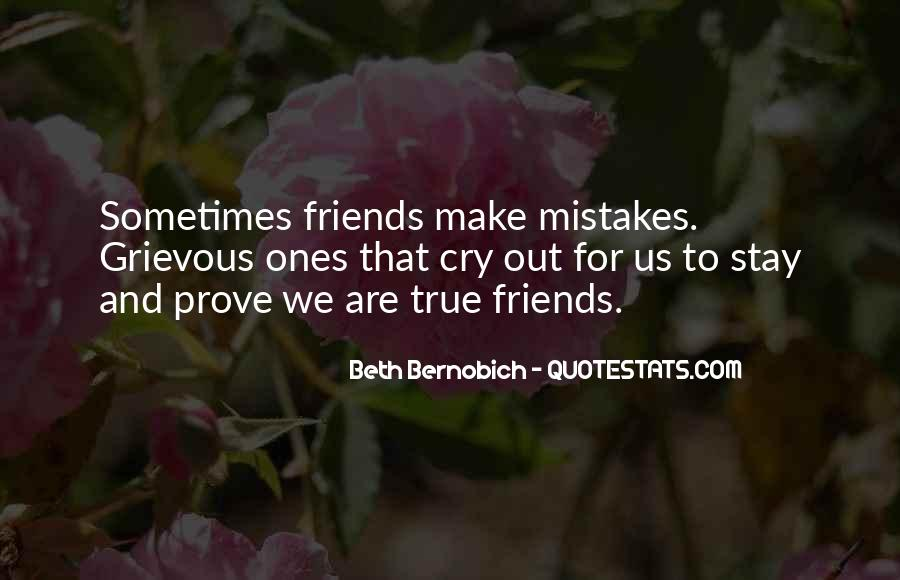 Mistakes Friends Quotes #508648