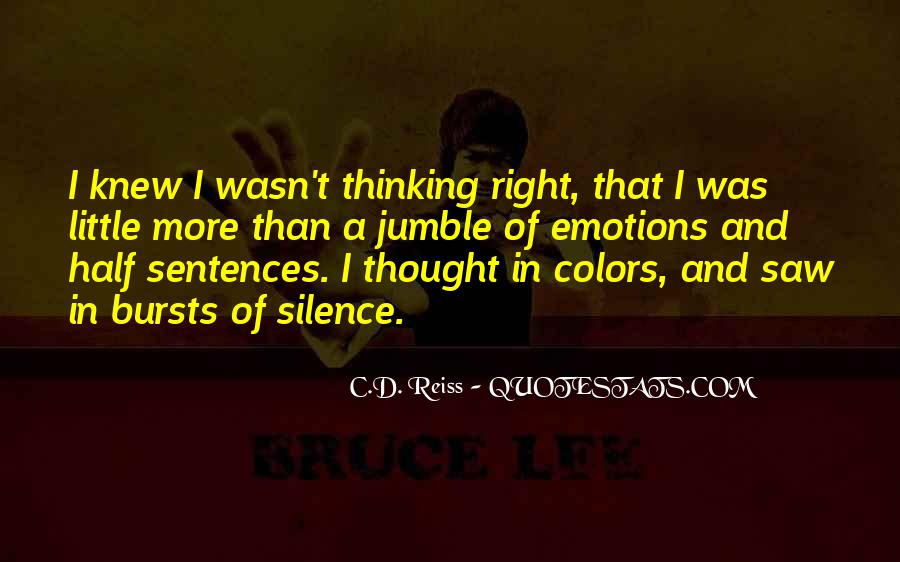 Quotes About Colors And Emotions #1669470