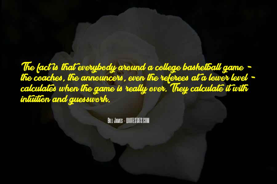 Quotes About College Basketball #306379