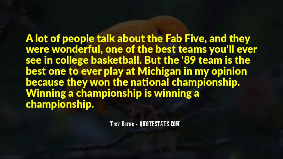 Quotes About College Basketball #496377